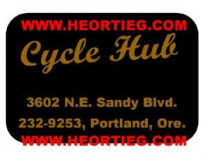Cycle Hub Portland Motorcycles Dealer Decals Transfers DDQ43